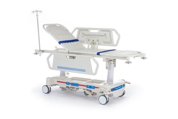 """Тележка медицинская для перевозки больных, механическая, модель """"Медицинофф"""", с принадлежностями, вариант исполнения: E-3"""