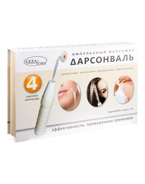 Дарсонваль для лица, тела и волос с 4мя насадками Biolift4 118 Gezatone