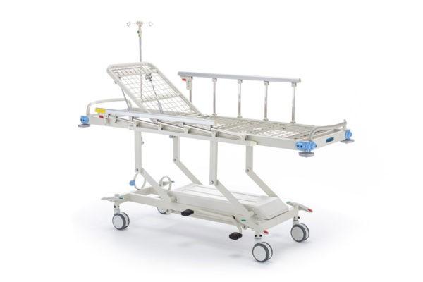 """Тележка медицинская для перевозки больных, механическая, модель """"Медицинофф"""", с принадлежностями, вариант исполнения: E-3(k)"""